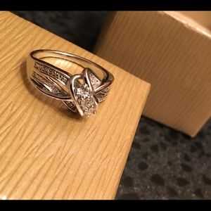 Jewelry - SOLD!!  Sterling ring with diamonds